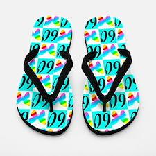LOVELY 60TH Flip Flops
