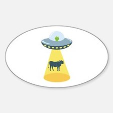Alien Spaceship And Cow Decal