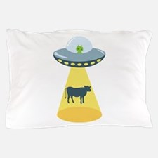 Alien Spaceship And Cow Pillow Case