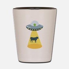 Alien Spaceship And Cow Shot Glass