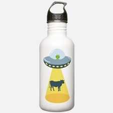 Alien Spaceship And Cow Water Bottle