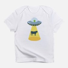 Alien Spaceship And Cow Infant T-Shirt