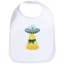 Alien Spaceship And Cow Bib