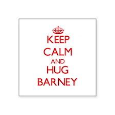 Keep Calm and HUG Barney Sticker