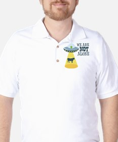 WE ARE NOT ALONE Golf Shirt