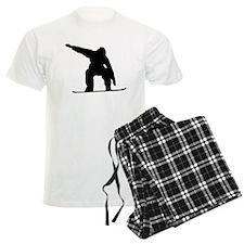 Snowboarder Silhouette Pajamas