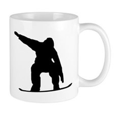 Snowboarder Silhouette Mugs
