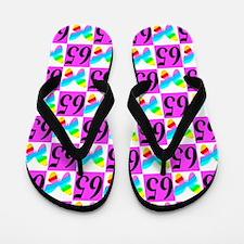 65TH BUTTERFLY Flip Flops