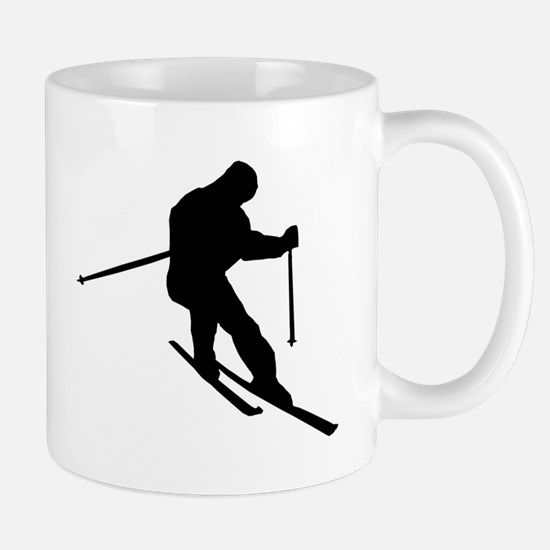 Skier Silhouette Mugs