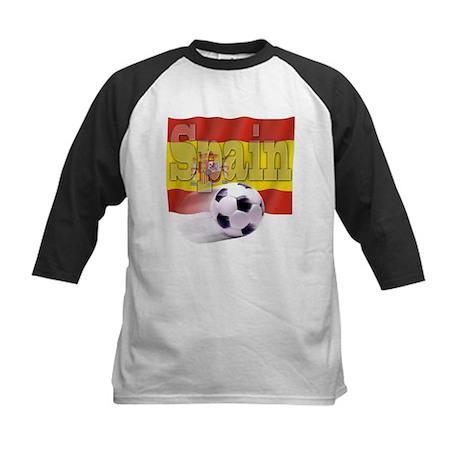 Soccer Flag Spain Kids Baseball Jersey