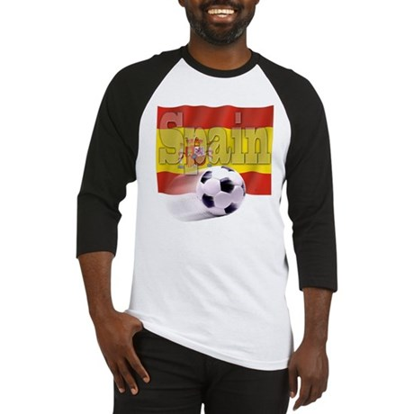 Soccer Flag Spain Baseball Jersey