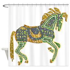 Jewel Art Horse Shower Curtain