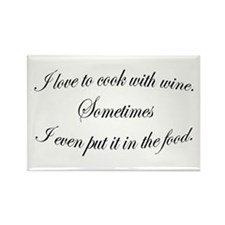 Cooking With Wine Rectangle Magnet