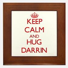 Keep Calm and HUG Darrin Framed Tile