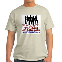 Axis of Liberals Ash Grey T-Shirt