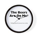 Free Beer Wall Clock