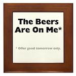 Free Beer Framed Tile