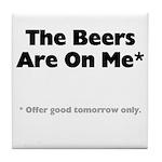 Free Beer Tile Coaster