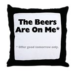 Free Beer Throw Pillow