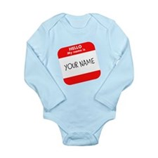 Custom Red Name Tag Body Suit
