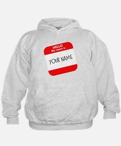 Custom Red Name Tag Hoodie