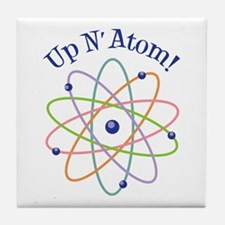 Up N Atom! Tile Coaster