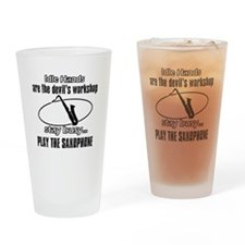 Play the bass saxophone Drinking Glass