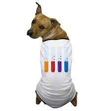 Chemistry Test Tubes Dog T-Shirt