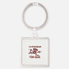 I love Annalise Square Keychain
