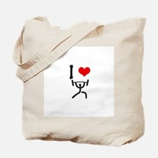 I love Weightlifting Tote Bag