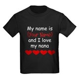 My nana loves me Kids T-shirts (Dark)