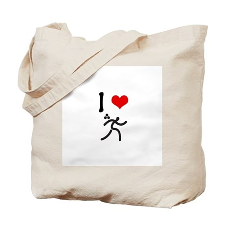 I love Triathlon Tote Bag
