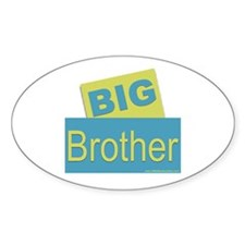 Big Brother bluegreen Oval Decal