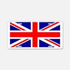 Union Jack flag Aluminum License Plate
