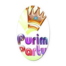 Purim Party invitation fabspark fr Oval Car Magnet