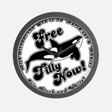 Free Tilly Now Blk Wall Clock