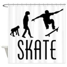 Skate Evolution Shower Curtain