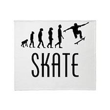 Skate Evolution Throw Blanket