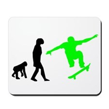Skateboard Evolution (Green) Mousepad