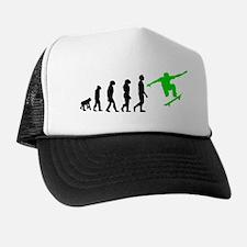 Skateboard Evolution (Green) Trucker Hat