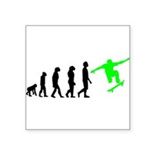 Skateboard Evolution (Green) Sticker