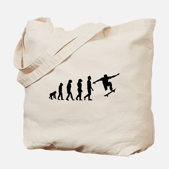 Skateboard Evolution Tote Bag