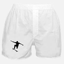 Skateboarder Silhouette Boxer Shorts