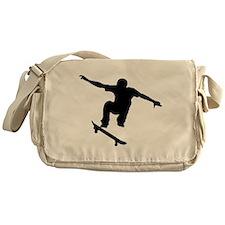 Skateboarder Silhouette Messenger Bag