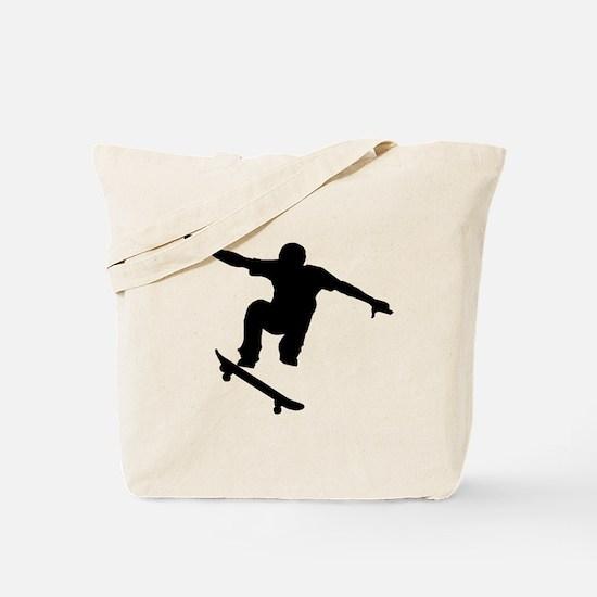 Skateboarder Silhouette Tote Bag