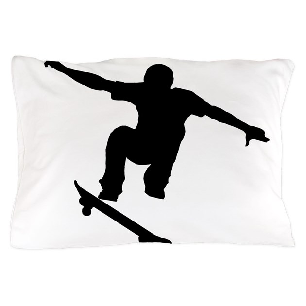 Skateboarder Silhouette Pillow Case By Extremesportsgifts