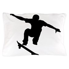 Skateboarder Silhouette Pillow Case