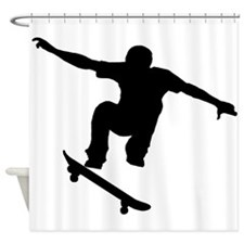 Skateboarder Silhouette Shower Curtain