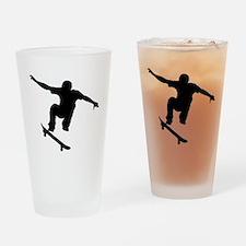 Skateboarder Silhouette Drinking Glass