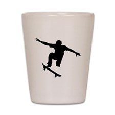 Skateboarder Silhouette Shot Glass